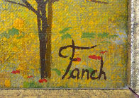 Vineyard 1975 14x20 Original Painting by Fanch Ledan - 5