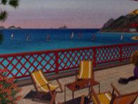 St. Barts 1989 20x26 Caribbean Original Painting by Fanch Ledan - 1