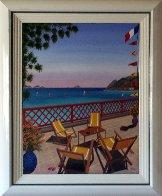 St. Barts 1989 20x26 Caribbean Original Painting by Fanch Ledan - 2