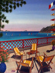 St. Barts 1989 20x26 Caribbean Original Painting - Fanch Ledan