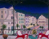 Nice Market Hall, France 2005 26x32 Original Painting by Fanch Ledan - 1