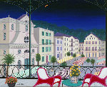 Nice Market Hall, France 2005 26x32 Original Painting - Fanch Ledan