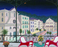 Nice Market Hall, France 2005 26x32 Original Painting by Fanch Ledan - 0