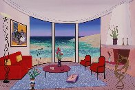 Interior with Francis Bacon 2005 22x32 Original Painting by Fanch Ledan - 1