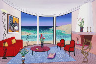 Interior with Francis Bacon 2005 22x32 Original Painting by Fanch Ledan - 0