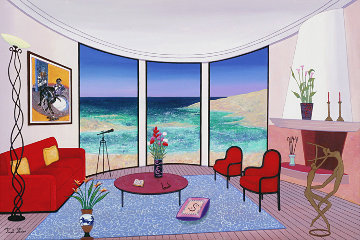 Interior with Francis Bacon 2005 22x32 Original Painting by Fanch Ledan
