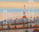 Odaiba, Paris, France 1992 24x49 Original Painting by Fanch Ledan - 0