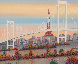 Odaiba, Paris, France 1992 24x49 Original Painting by Fanch Ledan - 1