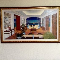 Interior Oriental 1993 27x45 Huge Original Painting by Fanch Ledan - 1
