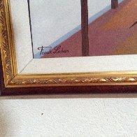 Interior Oriental 1993 27x45 Huge Original Painting by Fanch Ledan - 2