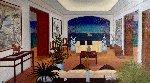 Interior Oriental 1993 27x45 Original Painting - Fanch Ledan