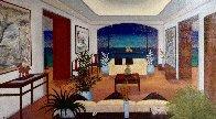 Interior Oriental 1993 27x45 Huge Original Painting by Fanch Ledan - 0