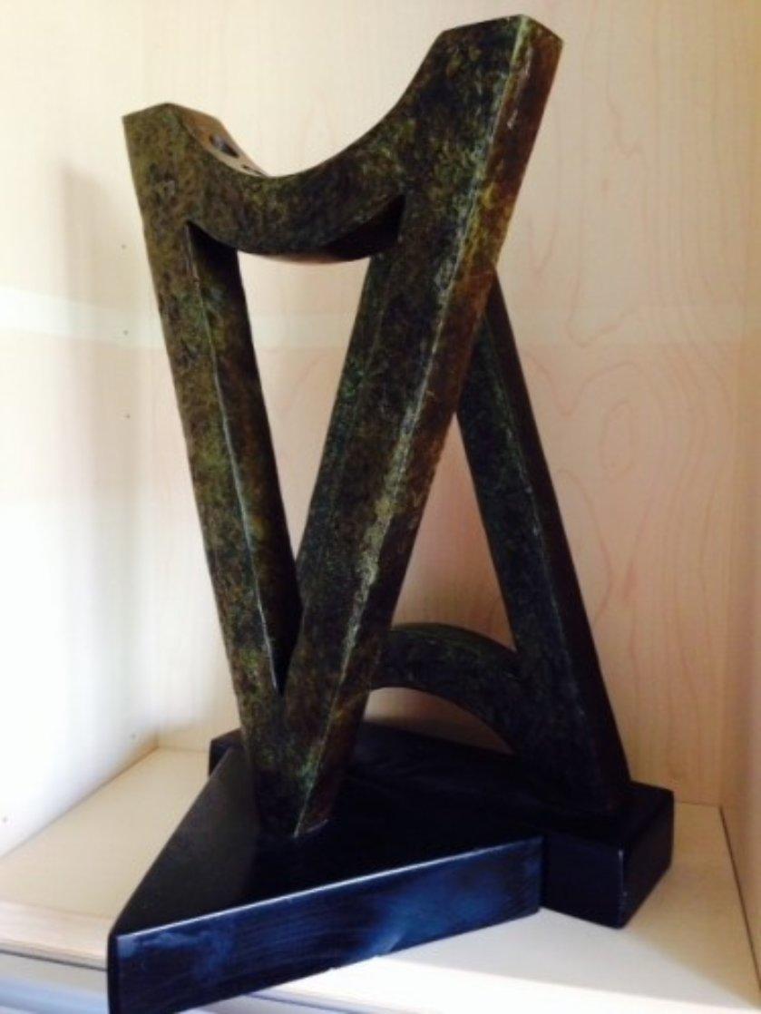 Menorah /Hanukka Bronze Sculpture 18 in Sculpture by Nomi Faran