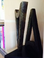 Menorah /Hanukka Bronze Sculpture 18 in Sculpture by Nomi Faran - 3