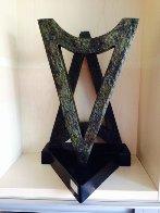 Menorah /Hanukka Bronze Sculpture 18 in Sculpture by Nomi Faran - 2