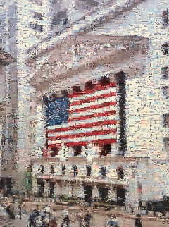 Wall Street Flag 2002 Limited Edition Print - Neil J. Farkas