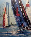 America's Cup, Newport Rhode Island  Original Painting - Malcolm Farley