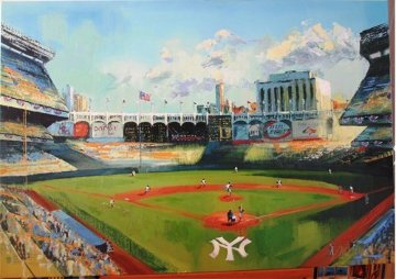 NY Yankee Stadium 2008 Embellished Limited Edition Print - Malcolm Farley