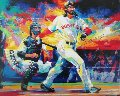 Johnny Damon Grand Slam Embellished 2005 Limited Edition Print - Malcolm Farley