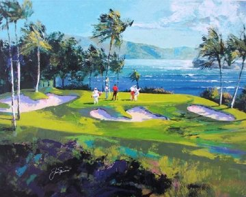 Maui Golf Embellished  2007 Limited Edition Print - Malcolm Farley
