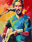 Kenny Loggins 2007 48x36 Original Painting - Malcolm Farley