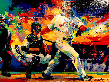 Johnny Damon Grand Slam 2005 Embellished Limited Edition Print by Malcolm Farley