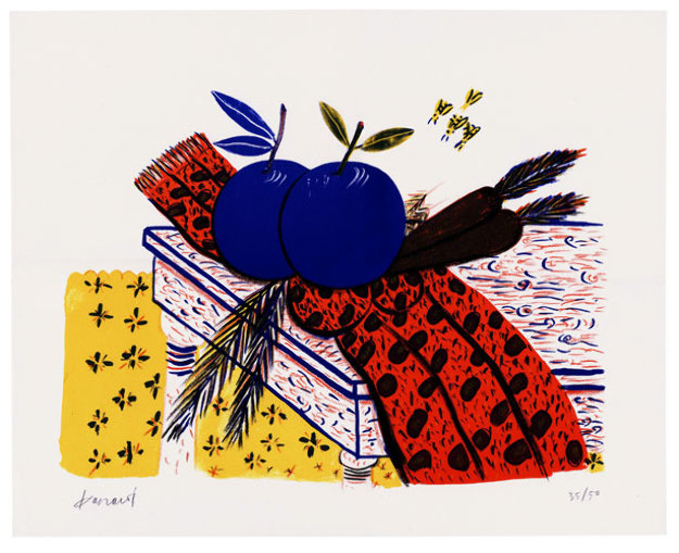 Still Life (Fruit, Scarf, and Bees) Limited Edition Print by Alexandre Fassianos