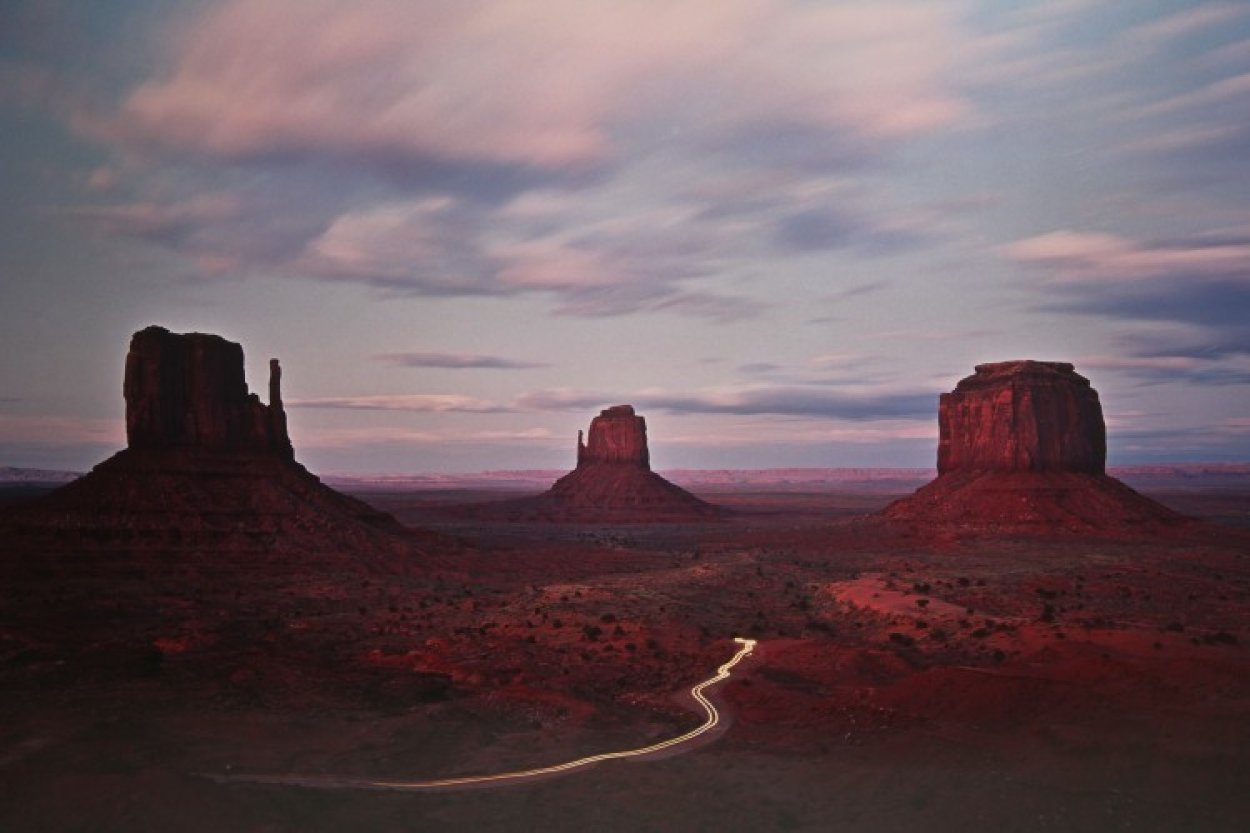 Twilight Traffic  Panorama by Michael Fatali