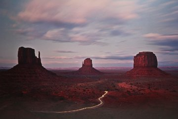 Twilight Traffic  Panorama by Michael Fatali