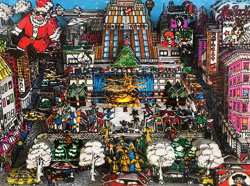 Santa Claus Coming to Midtown 3-D 1988 Limited Edition Print by Charles Fazzino