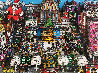 Santa Claus Coming to Midtown 3-D 1988 Limited Edition Print by Charles Fazzino - 0