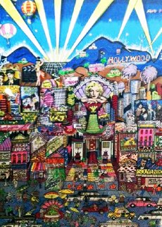 I Love L.A. 3-D 1991 AP Embellished Limited Edition Print by Charles Fazzino