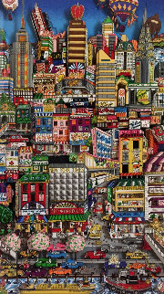 Movin' on Up to the Eastside  3-D 2000  Limited Edition Print by Charles Fazzino