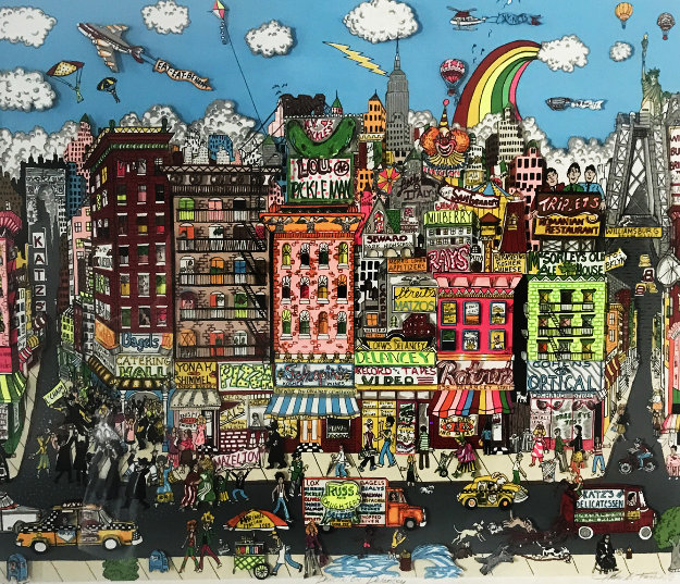 Dancing on Delancey  3-D 1990 Limited Edition Print by Charles Fazzino