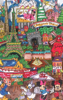 Disneyland Paris 3-D AP 1/25 Limited Edition Print - Charles Fazzino