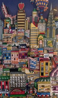Movin' on Up to Eastside New York 3-D Limited Edition Print - Charles Fazzino