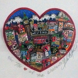 Heart of the West End 3-D London Limited Edition Print - Charles Fazzino