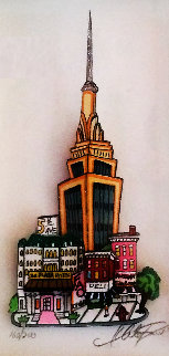 Plaza Hotel / Empire State Building 3-D Limited Edition Print - Charles Fazzino