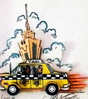 Taxi / Empire State Building  3-D New York Limited Edition Print by Charles Fazzino