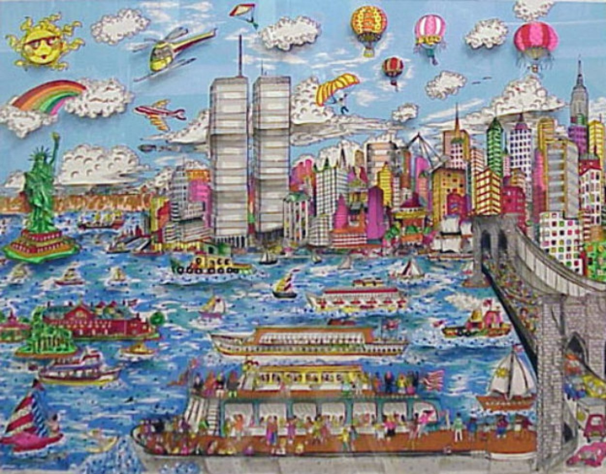 Gateway to New York   3-D 1987 Limited Edition Print by Charles Fazzino