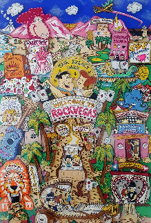 Flintstones Welcome to Rock Vegas 1995 3-D Limited Edition Print by Charles Fazzino