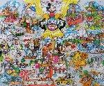 Mickey's World Tour  3-D 1996 Limited Edition Print - Charles Fazzino