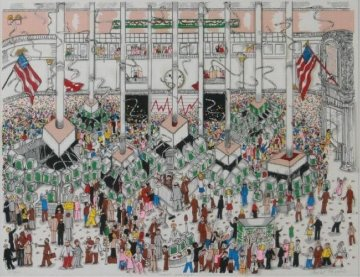 Wall Street 3-D Limited Edition Print by Charles Fazzino
