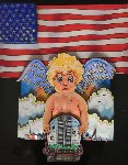 Angels And the Twin Towers Unique 3-D 2001 18x15 Works on Paper (not prints) - Charles Fazzino