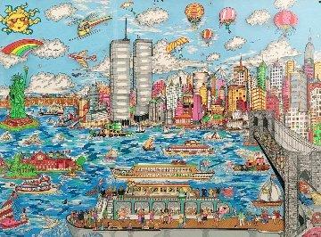 Gateway to New York  3-D AP  Limited Edition Print - Charles Fazzino