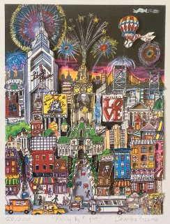Philly By Night 3-D 1980 Limited Edition Print by Charles Fazzino