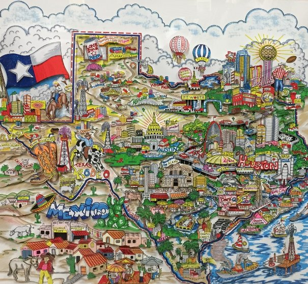 A Taste of Texas 3-D 1998 Limited Edition Print by Charles Fazzino