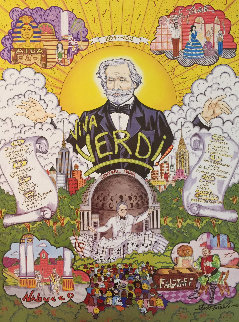 Viva Verdi: New York Grand Opera Co. Poster 1994 HS Limited Edition Print - Charles Fazzino