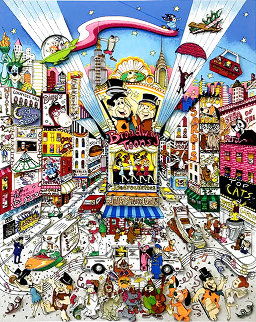 Broadway Toons 1995 3-D Limited Edition Print - Charles Fazzino