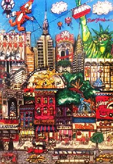 New York City 3-D 1987 Limited Edition Print - Charles Fazzino